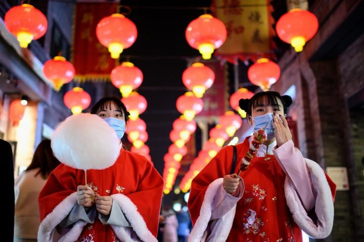 Foto: Suasana Hari Pertama Libur Imlek di Beijing