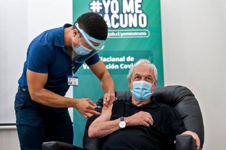Presiden Chile Divaksin Covid-19 CoronaVac