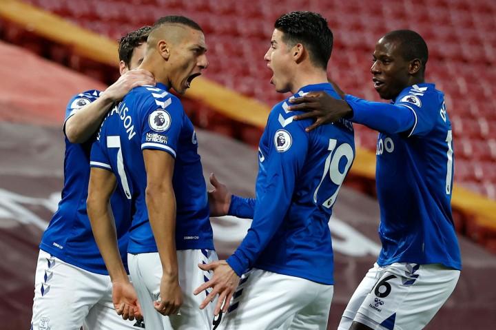 Liga Inggris: Everton Tekuk Liverpool di Anfield