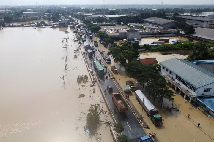 Potret Kawasan Bekasi Terendam Banjir