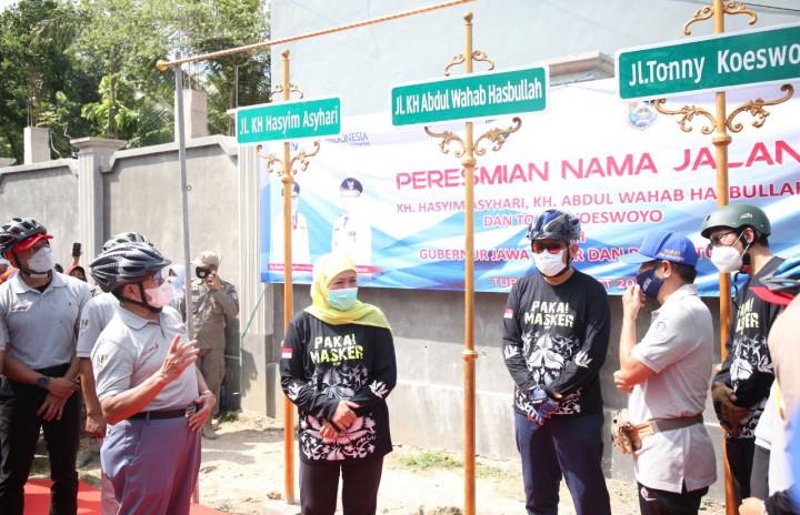 Khofifah Resmikan Nama Jalan Lingkar Selatan Tuban