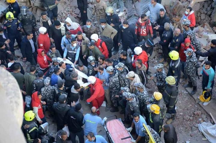 Duh, Lima Meninggal akibat Bangunan Bertingkat di Mesir Runtuh