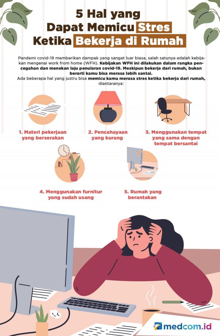 5 Hal yang Dapat Memicu Stres saat Bekerja di Rumah
