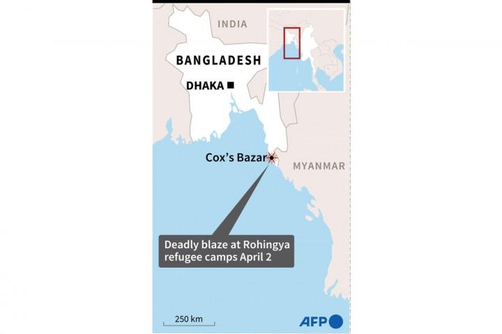 Kamp Rohingya Bangladesh Kembali Terbakar, 3 Orang Meninggal