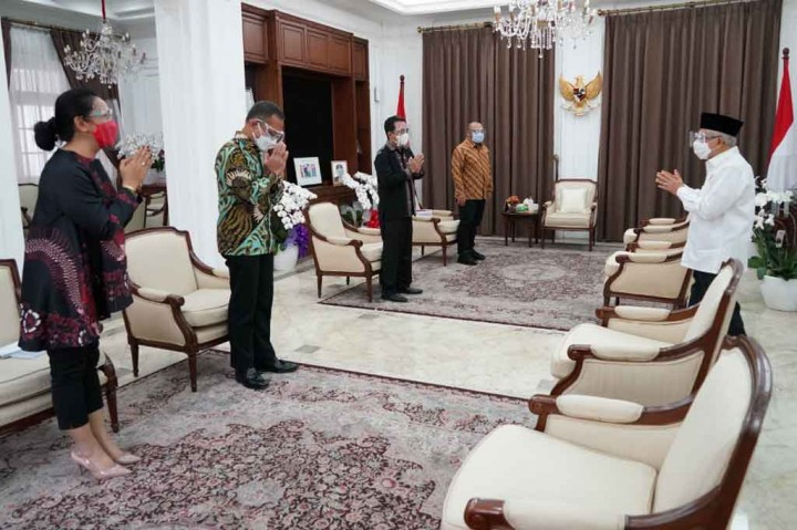 Foto: Pimpinan Media Group News Temui Wapres Ma'ruf Amin