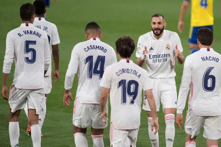 Liga Spanyol: Bantai Cadiz 3-0, Real Madrid ke Puncak Klasemen