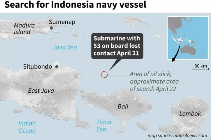 Kapal India Bantu Pencarian KRI Nanggala-402
