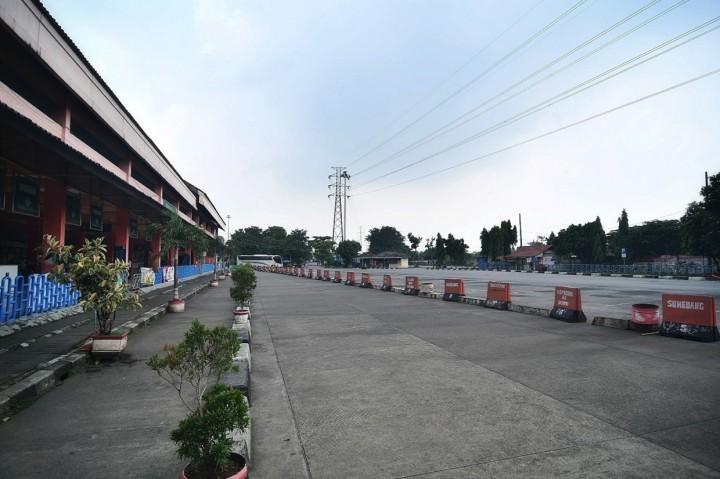 Larangan Mudik, Bus AKAP di Terminal Kampung Rambutan Tak