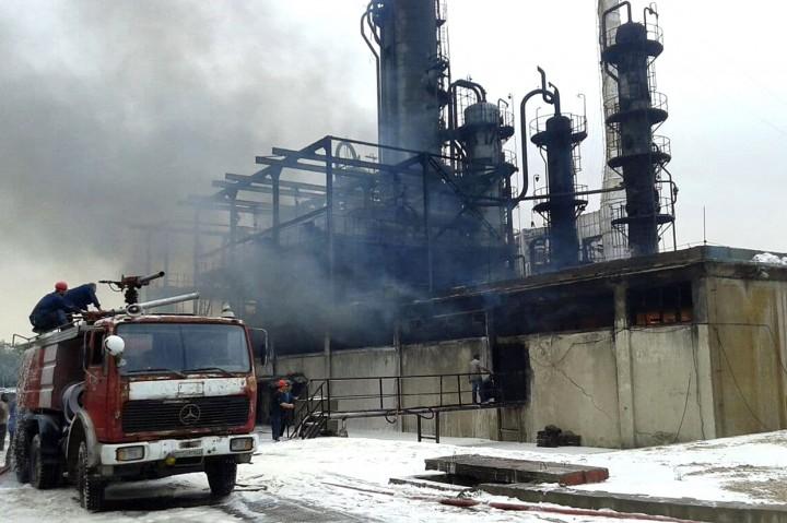 Kebakaran Landa Kilang Minyak Suriah