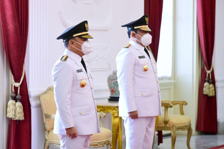Momen Pelantikan Gubernur dan Wagub Kalteng di Istana Negara