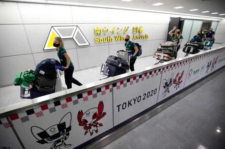 Olimpiade Tokyo, Timnas Softball Australia Telah Tiba di Jepang