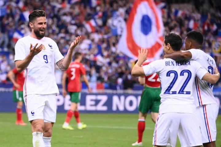 Laga Uji Coba: Prancis Gasak Bulgaria, Benzema Cedera