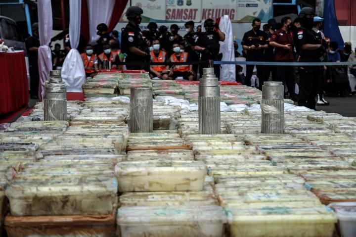 Peredaran 1,129 Ton Narkoba Jaringan Timur Tengah Digagalkan