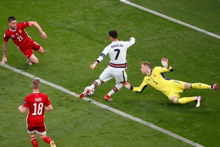 Wow! Ronaldo Jadi Pencetak Gol Terbanyak dalam Sejarah Euro