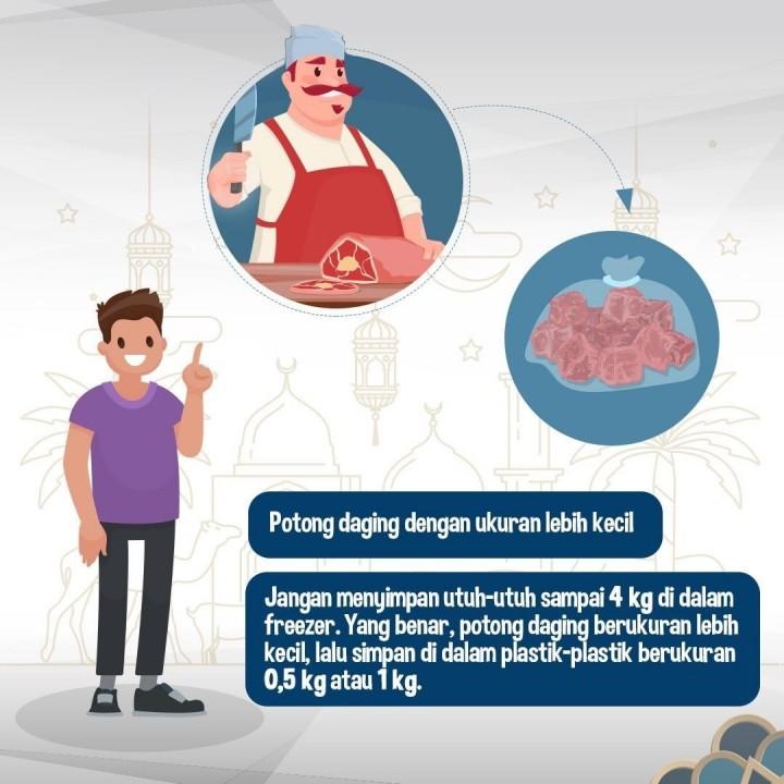 Langkah Menyimpan Daging Kurban