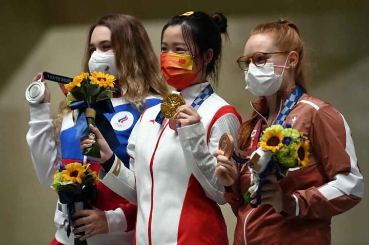 Luar Biasa! Tiongkok Raih Emas Pertama Olimpiade Tokyo 2020