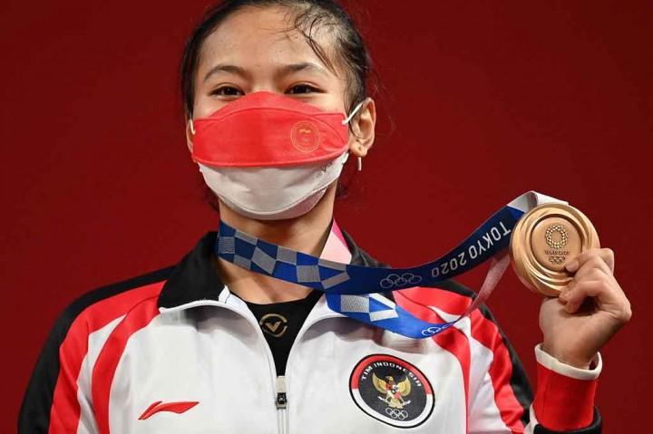 Selebrasi Windy Cantika Usai Sumbang Medali Pertama untuk