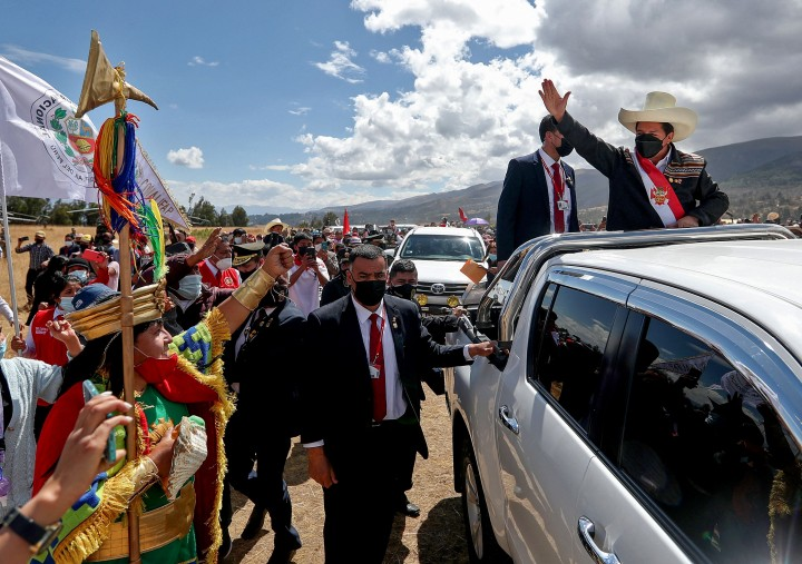 Momen Pelantikan Presiden Baru Peru Pedro Castillo