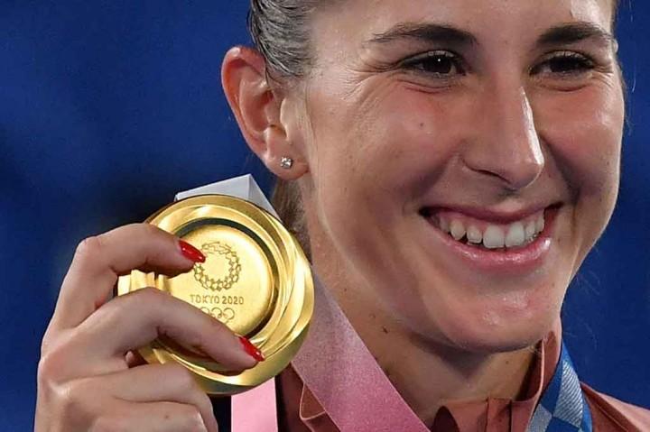 Bencic jadi Petenis Putri Swiss Pertama Rebut Emas Olimpiade