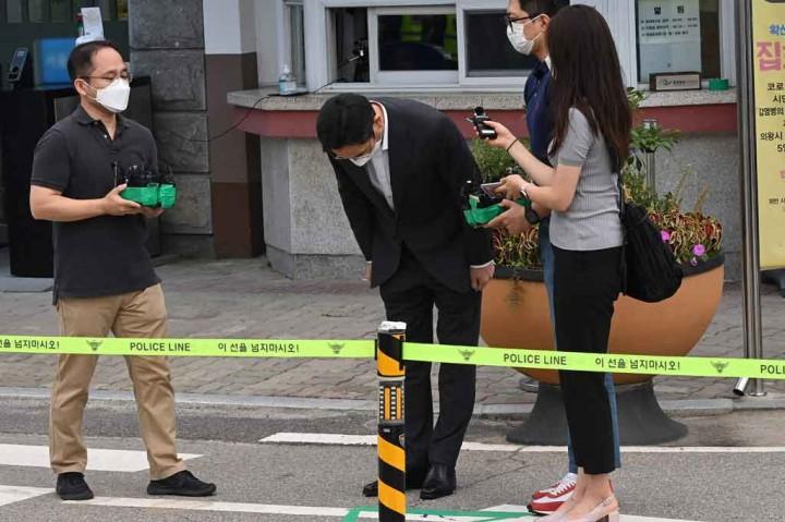 Foto: Bos Samsung Lee Jae-yong Bebas Bersyarat