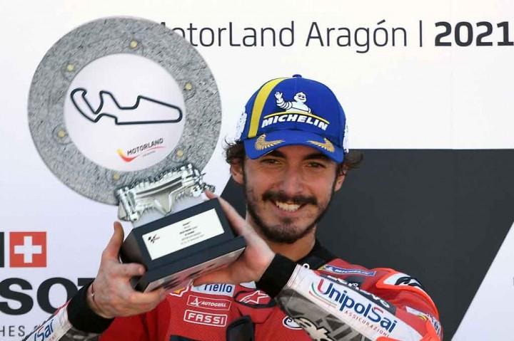 Francesco Bagnaia Kampiun MotoGP Aragon dari Pole