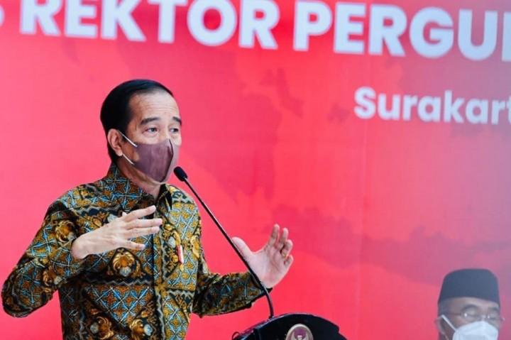 Momen Jokowi Bertemu Majelis Rektor Perguruan Tinggi Negeri