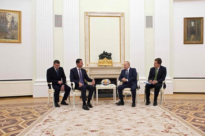 Momen Pertemuan Bashar al-Assad dan Vladimir Putin di Moskow