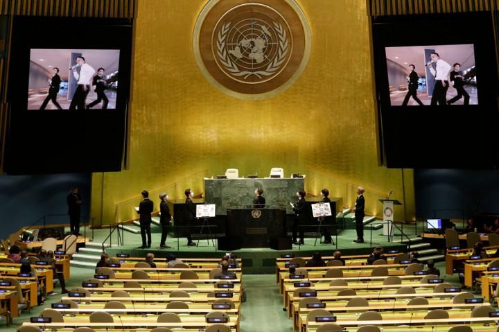 Potret BTS Berpidato di Sidang Majelis Umum PBB