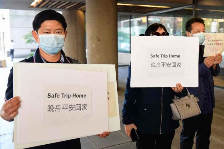 Dibebaskan Kanada, Bos Huawei Pulang dengan Pesawat Carter