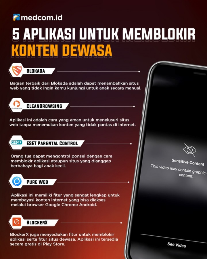 5 Aplikasi untuk Memblokir Konten Dewasa