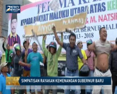 Simpatisan Rayakan Kemenangan Gubernur Maluku Baru