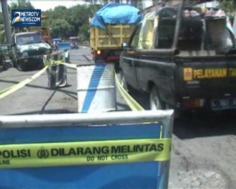 Jembatan Rusak Parah, Ruas Jalan Lumajang-Malang Terganggu