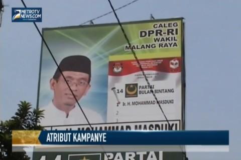 Masa Tenang Pemilu, Poster Caleg masih Bertebaran