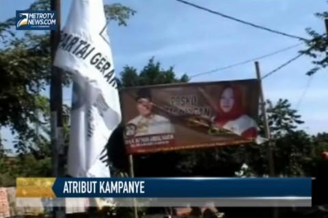 Alat Peraga Kampanye di Karawang belum Ditertibkan