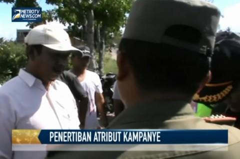 Pengurus Parpol Protes Penertiban Atribut Kampanye