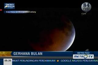 Gerhana Bulan Total Terlihat Jelas di Amerika dan Australia
