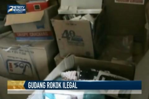 Polisi Gerebek Gudang Rokok Ilegal