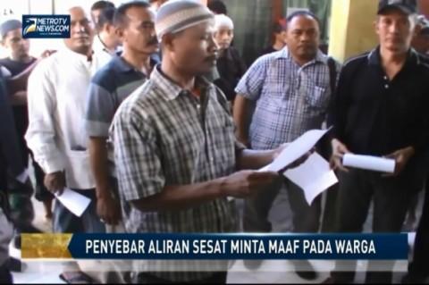 Penyebar Aliran Sesat  Minta Maaf pada Warga Desa