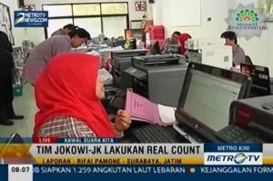 Tim Jokowi-JK Jatim Lakukan Real Count