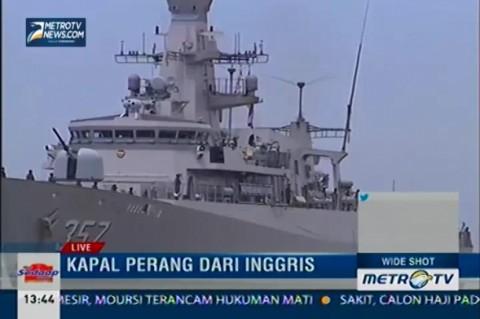 KRI Bung Tomo-357 Buatan Inggris Tiba di Pelabuhan Belawan