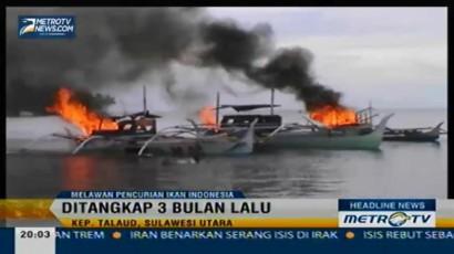 Tiga Perahu Nelayan Filipina Dibakar dan Ditenggelamkan
