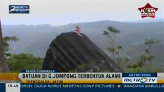 Batuan di Gunung Jompong Diduga Peninggalan Kerajaan Mataram