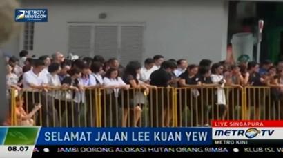 Rute Pemindahan Jenazah Lee Kuan Yew ke Gedung Parlemen Dijaga Ketat