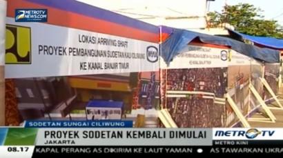 Sodetan Ciliwung Dilanjutkan, Jalan Otista III akan Ditutup
