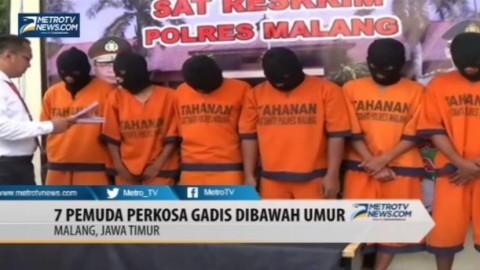 Mabuk, Tujuh Pemuda Perkosa Gadis di Bawah Umur