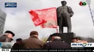 Warga Donetsk Resmikan Patung Lenin
