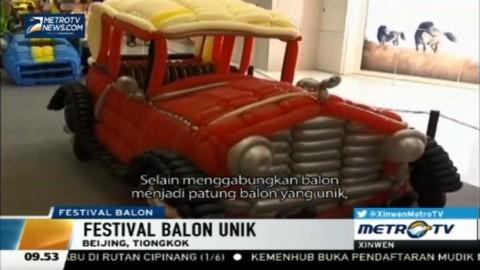 Festival Balon Menampilkan 600 Ribu Balon di Tiongkok