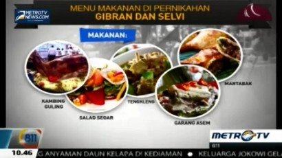 Inilah Makanan yang Disajikan di Resepsi Gibran & Selvi