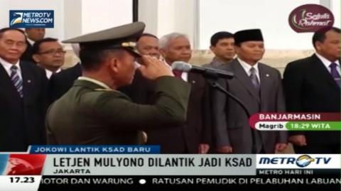 Jokowi Lantik Letjen Mulyono Jadi KSAD Baru