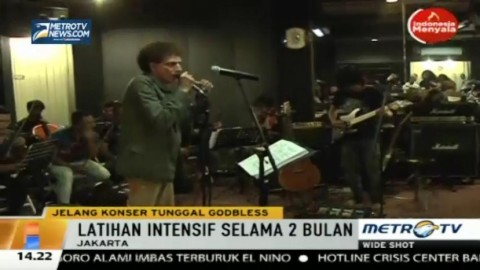 Persiapan Ahmad Albar cs Jelang Konser Tunggal God Bless